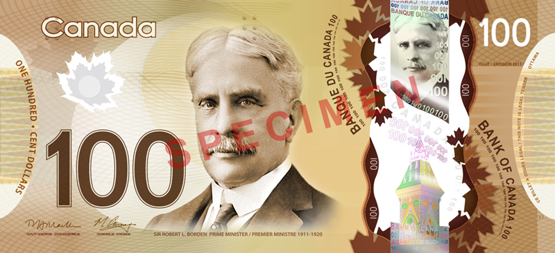 One Hundered Canadian Dollar Banknote