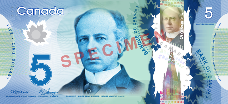 Five Canadian Dollar Banknote