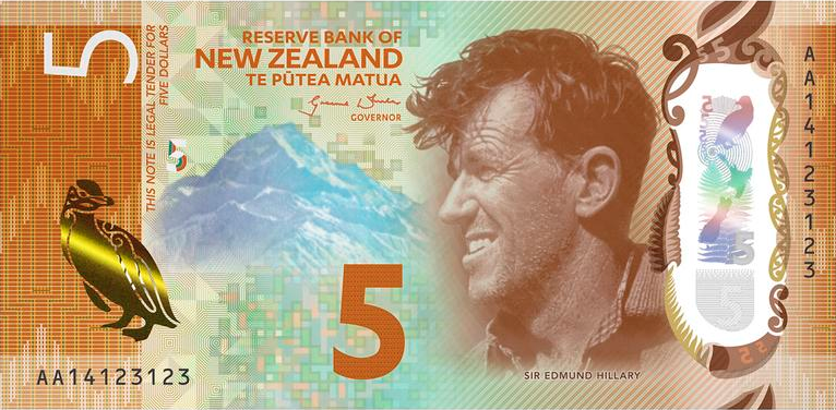 Five New Zealand Dollar Banknote